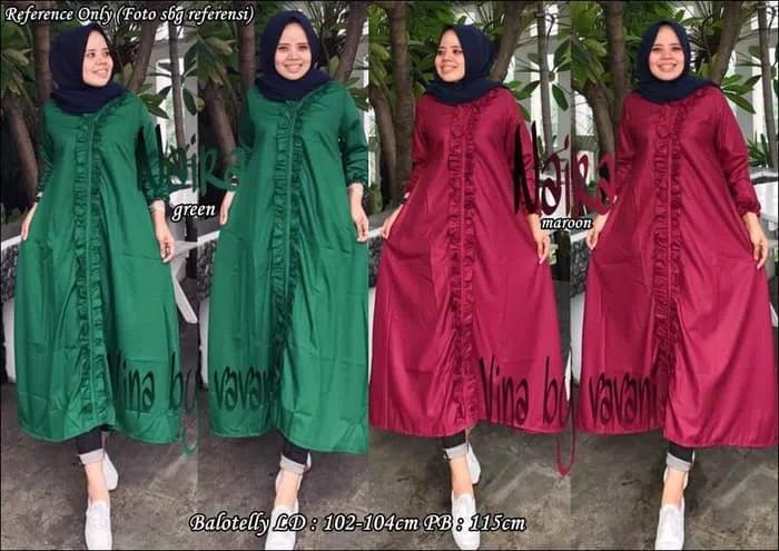 harga Baju atasan naira tunik / midi dress muslim hijab murah kemeja panjang Tokopedia.com