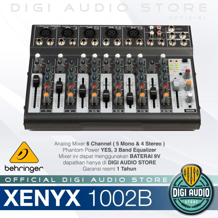 harga Mixer behringer xenyx 1002b ( 1002 b ) Tokopedia.com