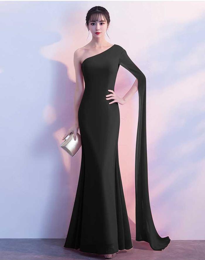 Jual Longdress Wanita Gaun Pesta Simple Sexy Elegant Import Black Hitam Kota Tangerang Minmin Store Tokopedia