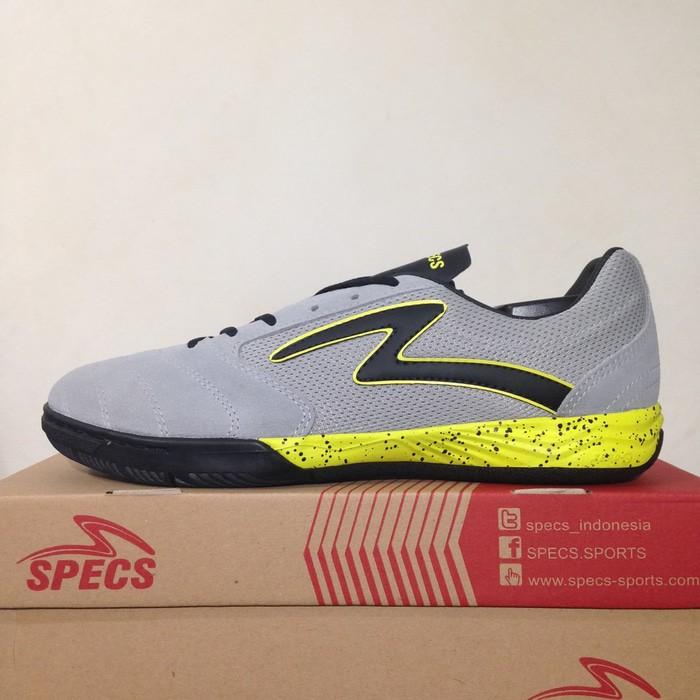 Jual Sepatu Futsal Specs Metasala Rival Palona Grey Slime 400726