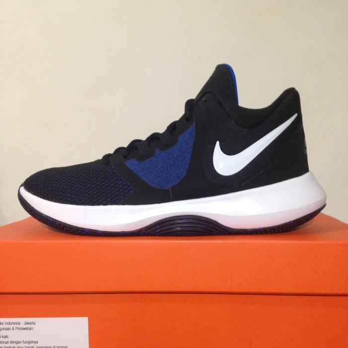 69a4bc885811 Jual Sepatu Basket Nike Air Precision II Black Game Royal AA7069-004 ...