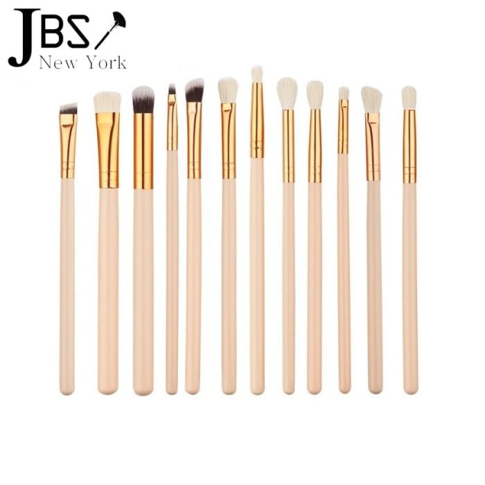 jbs new york makeup brush / 12 buah set sikat kuas - k 047