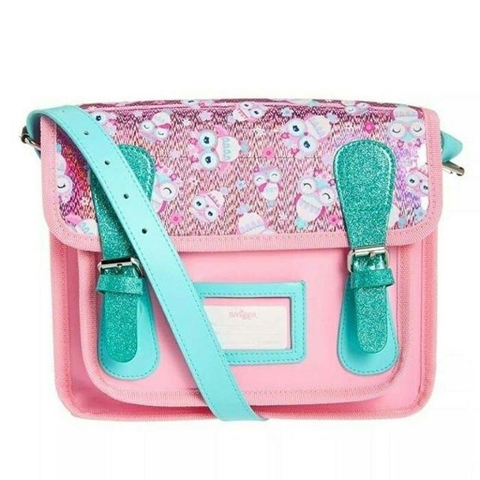 Tas selempang ransel smiggle pink- smiggle wow mini lucy satchel bag