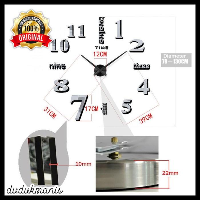 Jam Dinding Diy 80 130cm Diameter Elet00659 - Daftar Harga Terkini ... b9cc28f9d5