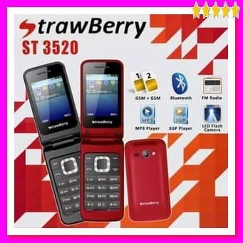 Strawberry ST3520 Flip - Dual Sim - Garansi Resmi