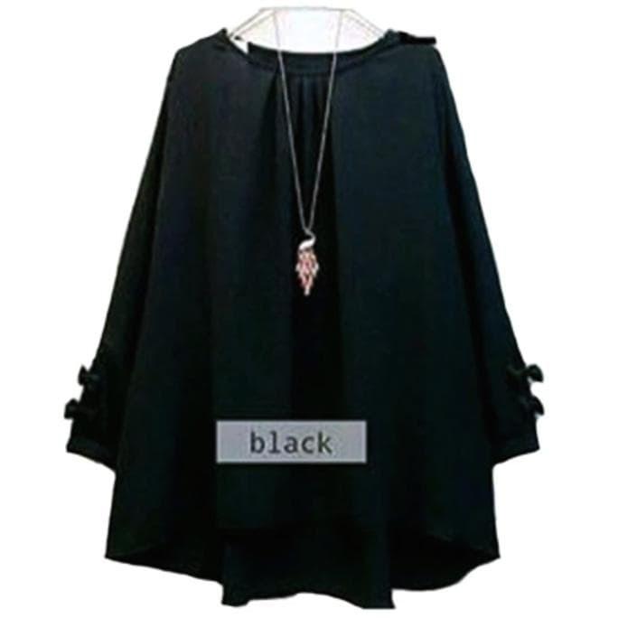 Atasan blouse erkud tunik baju muslim - hitam