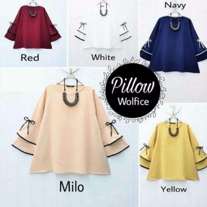 Baju atasan wanita pillow blouse tunik baju muslim