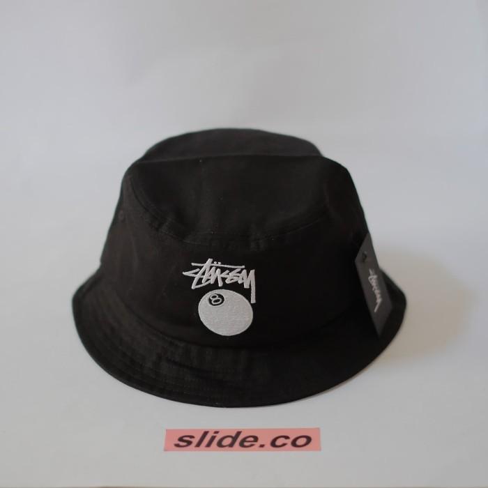 5bd6d799d45 Jual Stüssy 8-Ball Bucket Hat - BLACK - slidestore