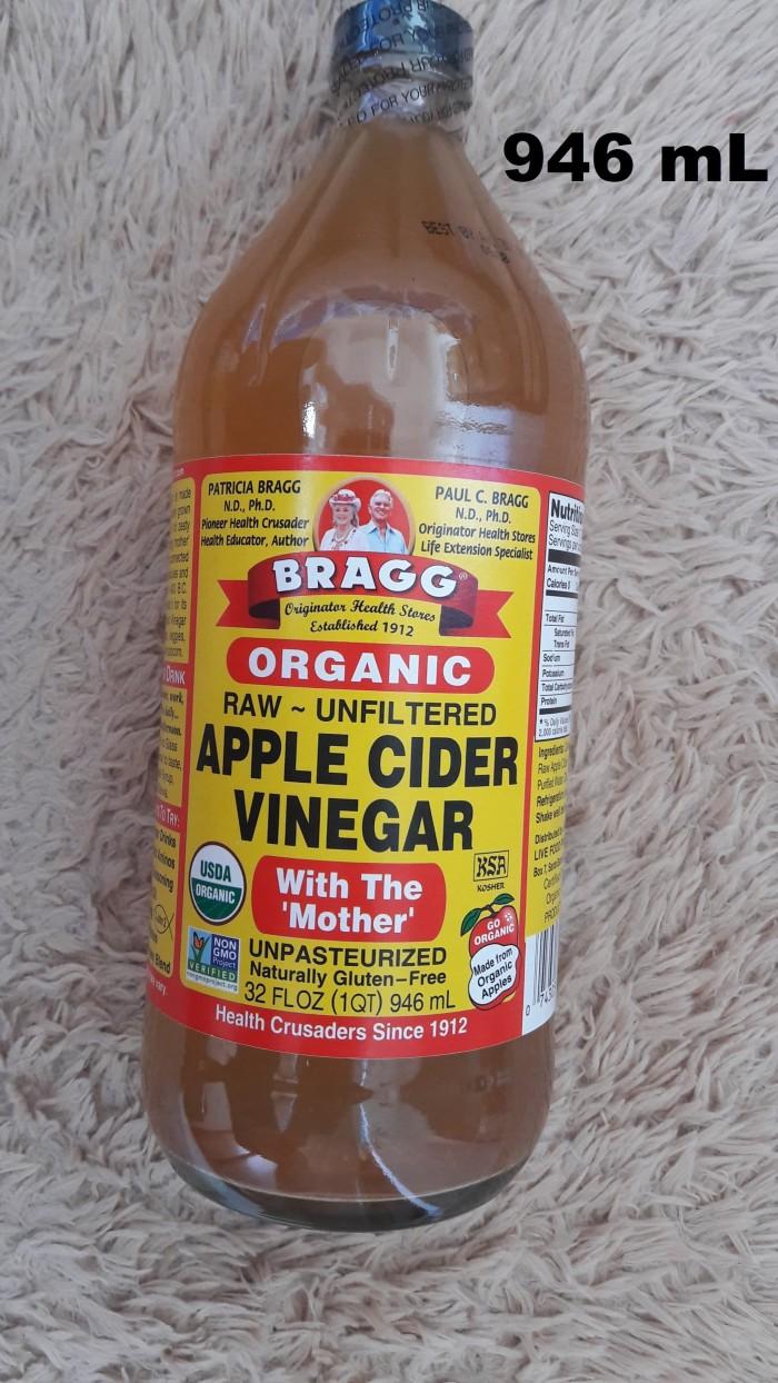Foto Produk BRAGG Apple Cider Vinegar 946 ml / cuka apel Organic Raw Unfiltered dari Melogranic