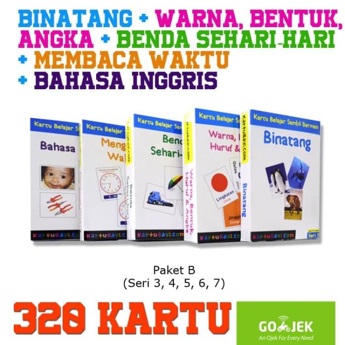 Foto Produk FlashCard Paket 320 Kartu - 5 Seri Indonesia, Inggris (Kartu Bayi) dari Tasneem