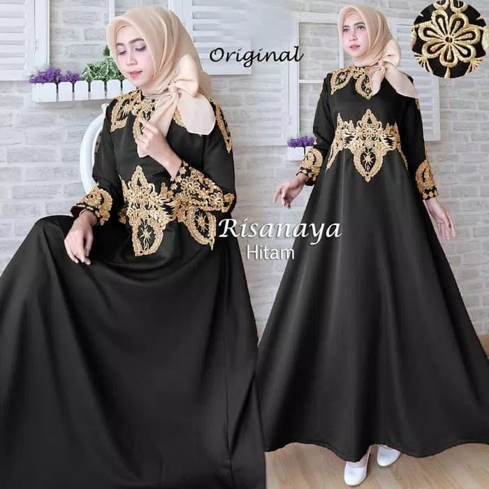 Jual Baju Busana Muslim Gamis Syari Gaun Pesta Dress Maxi Risnaya