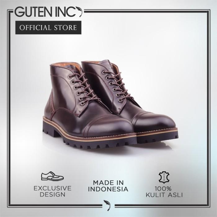 harga Guten inc - jeune chukka oxblood / sepatu boots kulit asli berkualitas - cokelat tua 40 Tokopedia.com