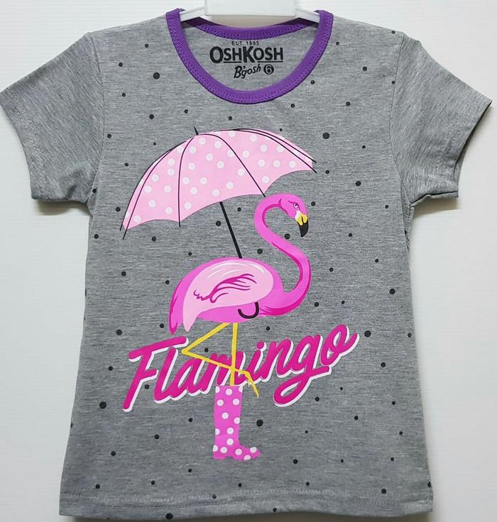 harga Grosir kaos anak karakter motif flamingo payung 7-10 Tokopedia.com