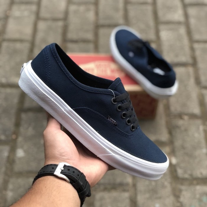 ... harga Sepatu vans authentic mono dressblue premium icc made in china  bnib Tokopedia.com dbc4335c94