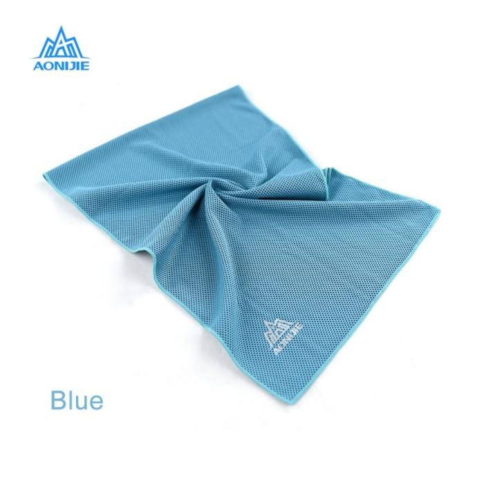 aonijie e4041 cooling sport towel - handuk olahraga blue