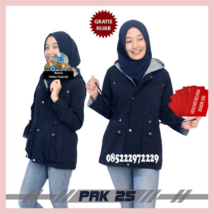 Jual TERLARIS !!! Jaket Parka Navy Wanita Bahan Kanvas Premium ... 2026f2fdfa