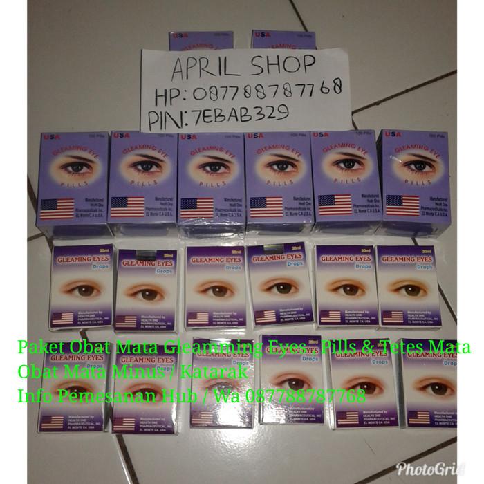 Paket Obat Tetes Mata Plus Pil Obat Mata Plus Minus Gleaming Eyes