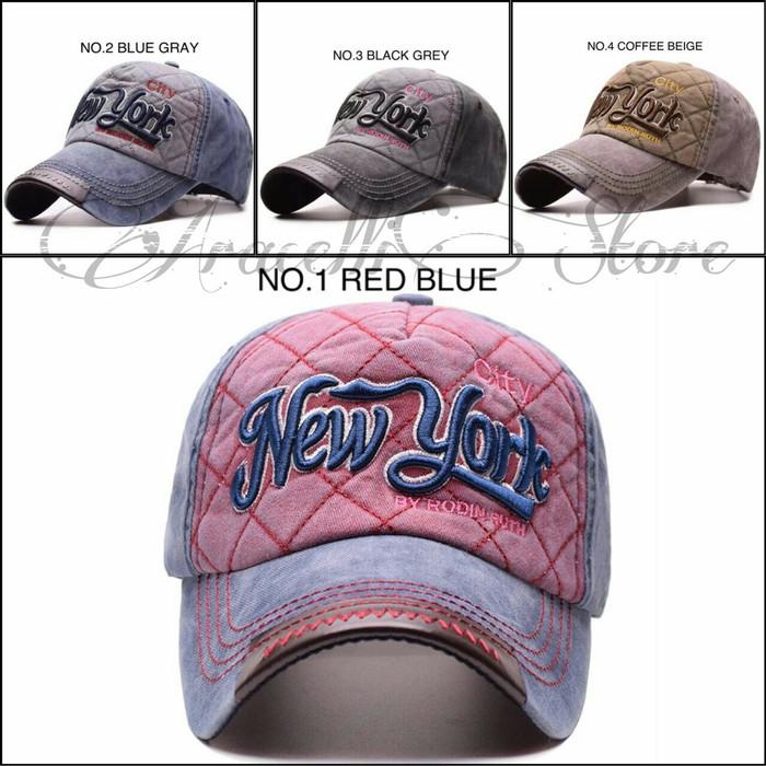 harga Jual baseball caps import new york city embroidered  topi bordir murah  Tokopedia.com 58a9b99eae