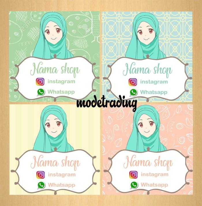Jual Sticker Stiker Murah Label Produk Hijab Kab Tangerang
