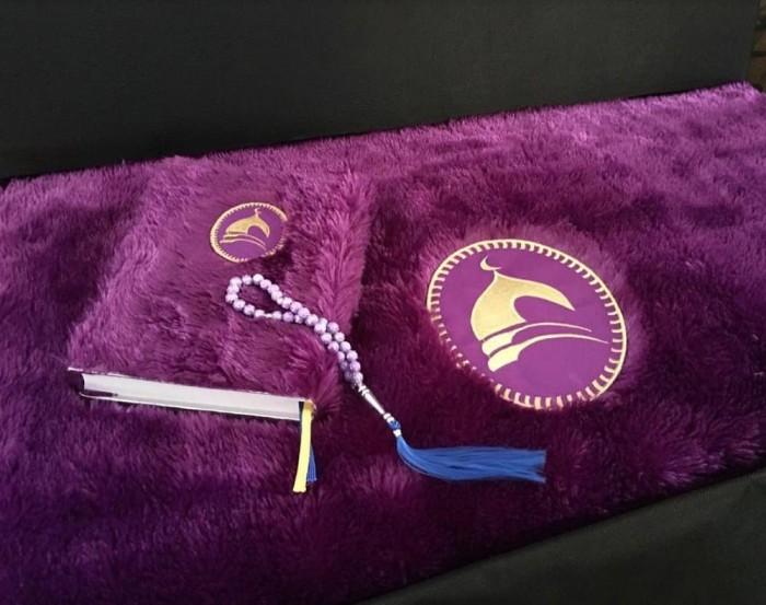 Jual Paket Sajadah Syaffa Purple Cantik Bulu Untuk Seserahan Parcel Lebaran Kab Cirebon Ajwa Id Tokopedia