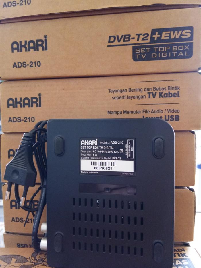 Akari Set Top Box DVB T2 + EWS TV digital ADS-210 - Baru