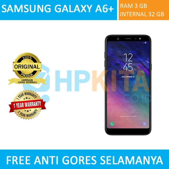 Jual Samsung Galaxy A6 Plus Sein Gold Black Blue Biru Hpkita
