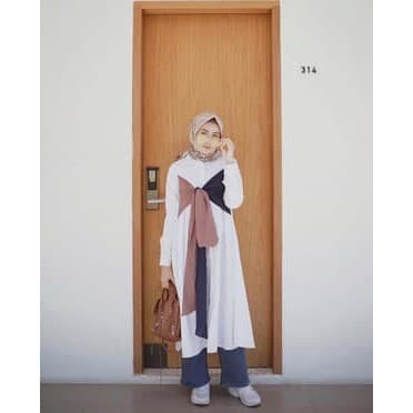 harga Atasan tunik wanita muslim jual tunik nuraya long tunik muslim pakaian Tokopedia.com