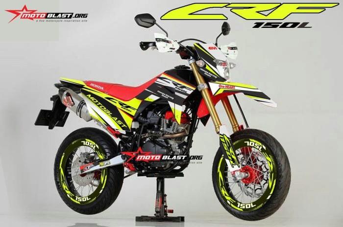 Jual Decal Stiker Honda Crf 150 Yellow Motoblast Lapak Motoblast