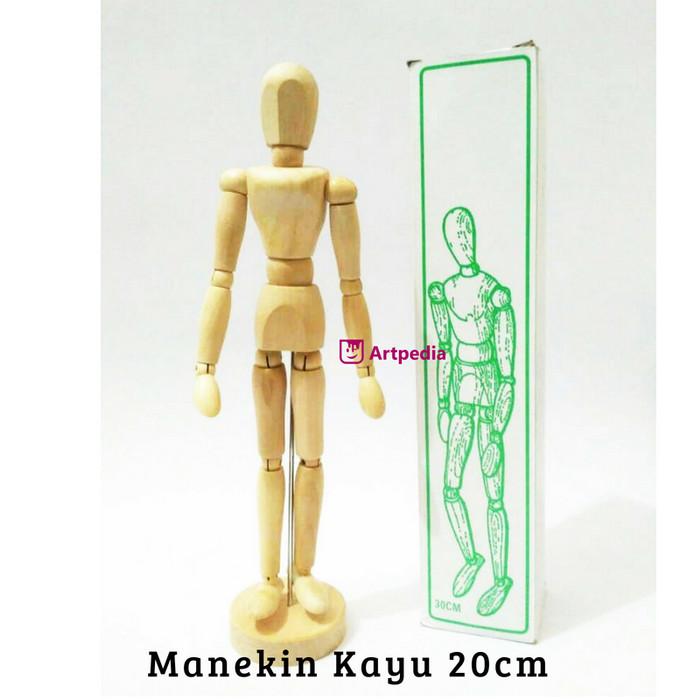 Manekin Kayu 20 cm   Boneka Kayu 20cm   Wooden Mannequin  Manikin 20cm -  Female f4437ce7b4
