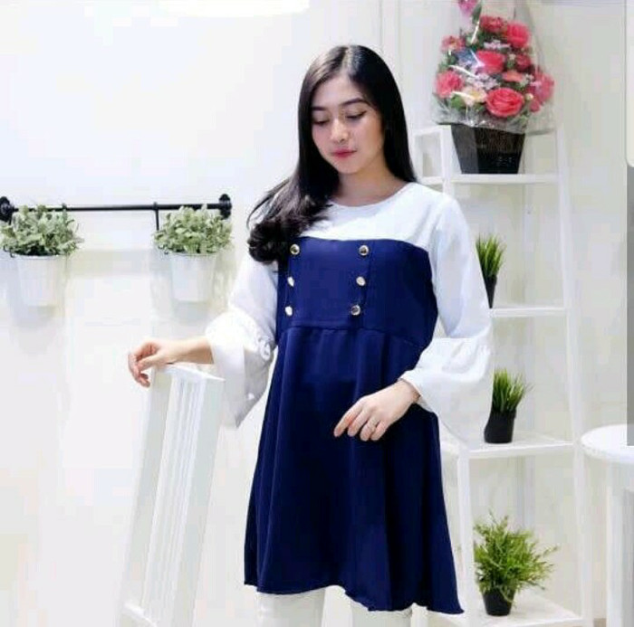 Clasy tunik b- baju atasan kerja - blouse tunik kemeja wanita muslim 62e0972c84