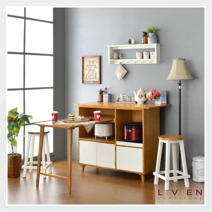 Meja makan sliding - maple story - livien furniture