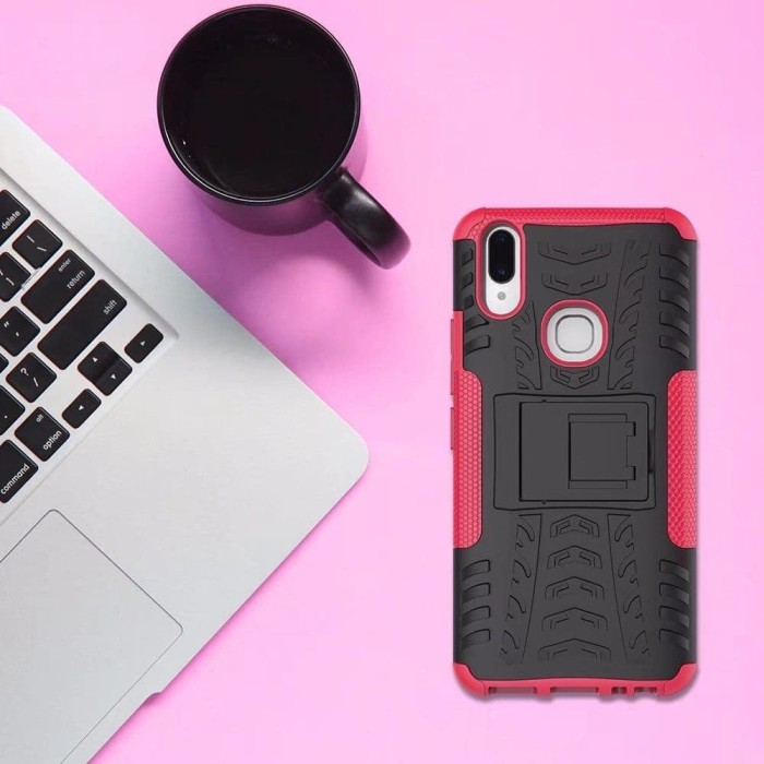 ... #Case #casing #Hitam Vivo V9 V 9 2018 Rugged Armor Back Cover Soft Hard Case casing HP - Hitam v9bet, v90, v90 volvo, v99, v90 cross country, v95, ...