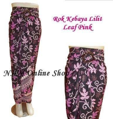 Jual Rok Lilit Serut Model Rok Kebaya Leaf Pink Dki Jakarta