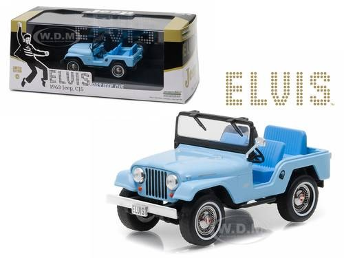 Figure Brick Lego UNO)Greenlight 1:43 1963 Jeep CJ5 Elvis Presley Blue