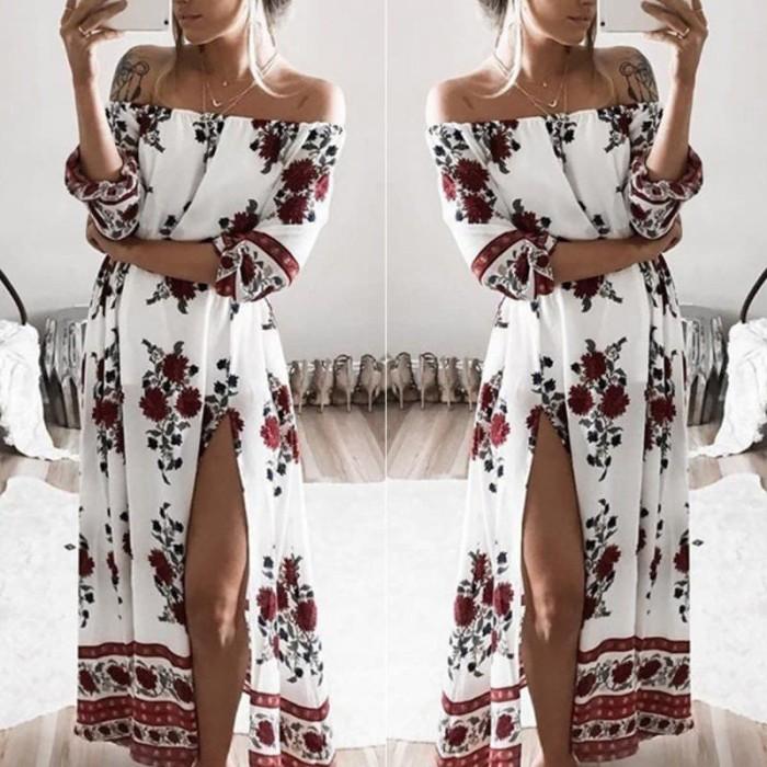 harga Dress sabrina bohemian/dress pantai maxi floral / dress boho sabrina Tokopedia.com