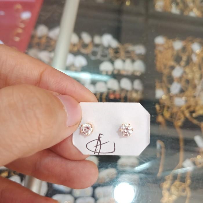 Foto Produk Anting Tindik Emas Tua Asli Permata /Anting Anting /Anting Lingkaran dari Galeri Emas Asli