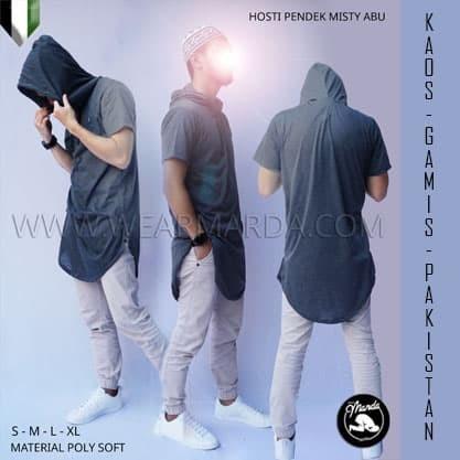 Foto Produk Kaos Hoodie Kupluk Kurta Hooded Gamis Pakistan Abu dari wear marda