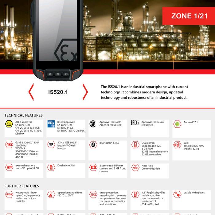 Jual Isafe IS520 1 HP Intrinsically safe , Atex zone 1 RIVAL Ecom Smart EX1  - Jakarta Selatan - Sumart   Tokopedia