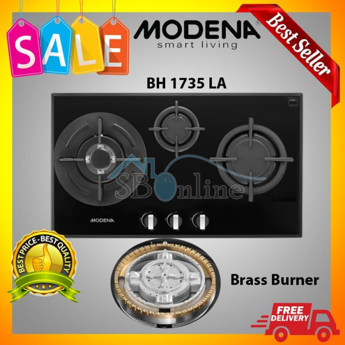 harga Bh 1735 la modena gas open burner/3 tungku lebar 70 cm harga pabrik Tokopedia.com