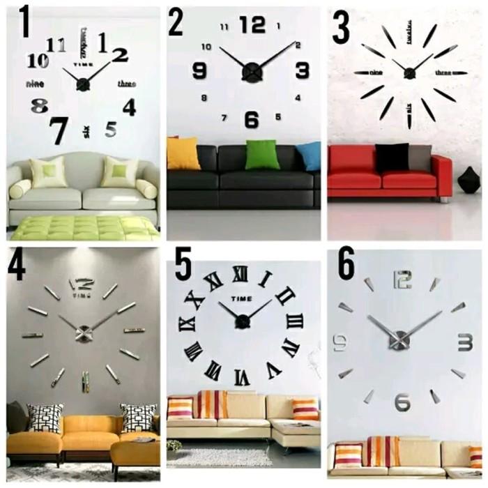 Jam Dinding DIY Besar 3D Wall Giant Clock Diameter 80-1 Berkualitas c0131b9626