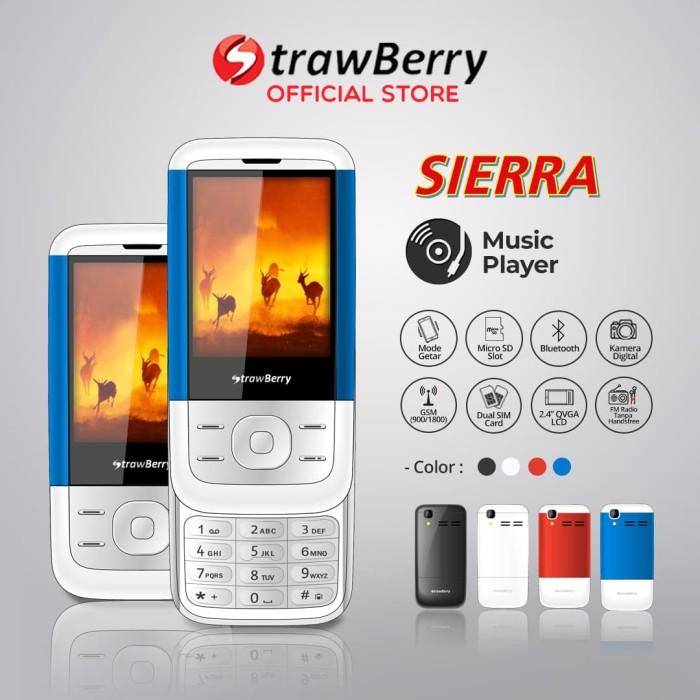 harga Strawberry – sierra   handphone slide hp murah kamera bluetooth - blue Tokopedia.com