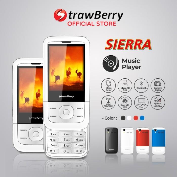 harga Strawberry – sierra | handphone slide hp murah kamera bluetooth - white Tokopedia.com