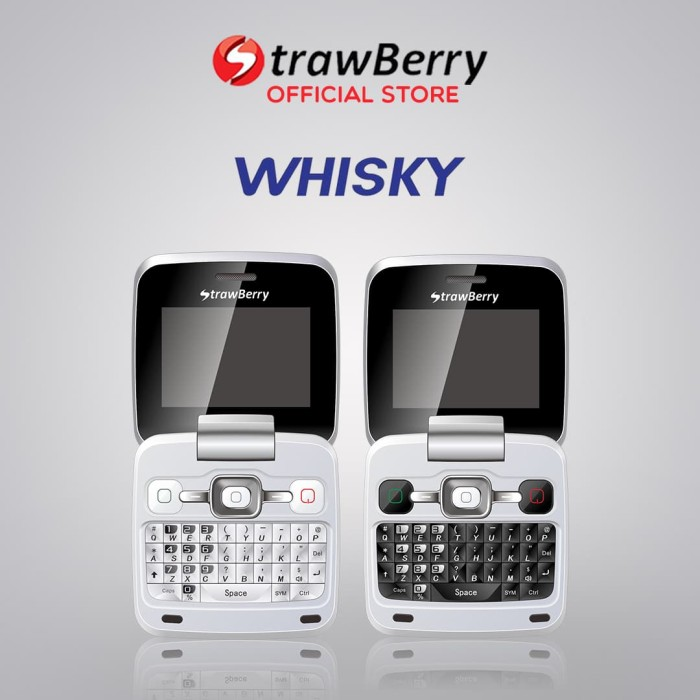 Jual Strawberry Whisky Handphone Flip Hp Murah Kamera Bluetooth