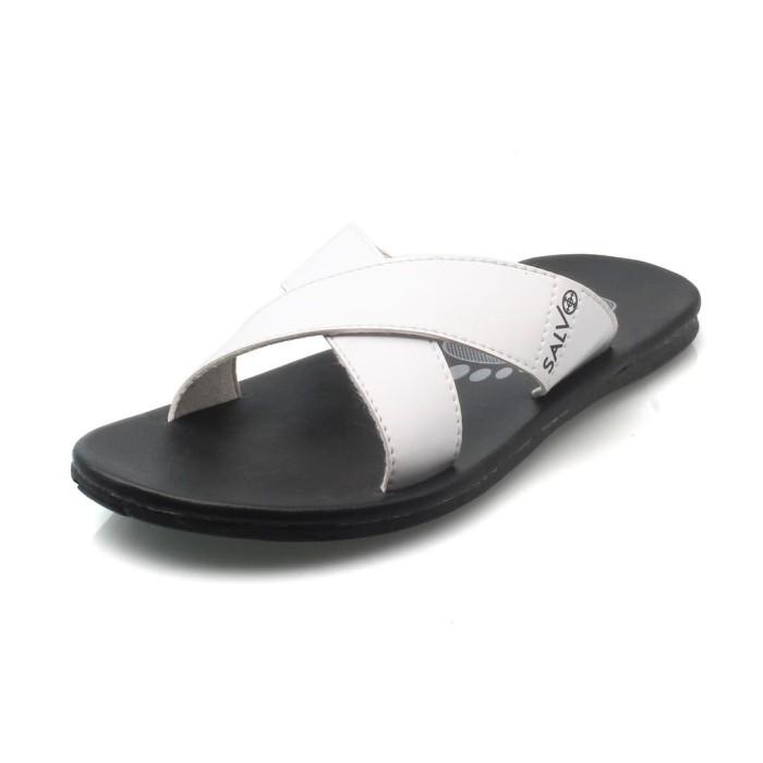 Salvo sepatu sneaker A03 merah Free sandal S02 putih