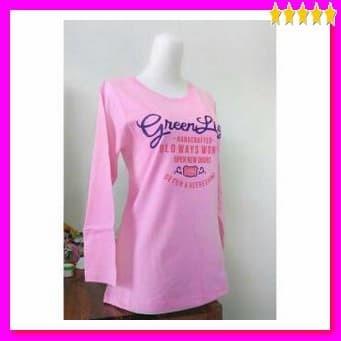 [kaos keren] Kaos Lengan Panjang Greenlight Baju Atasan Wanita Kaos Di