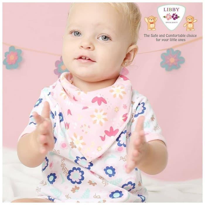 Bib Scarf Bayi / Slaber Bayi Segitiga untuk Baby Girl (2in1) Libby