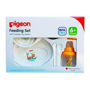Pigeon Feeding Set 6M+ BPA Free Alat Makan Baby Praktis Dan Lengkap