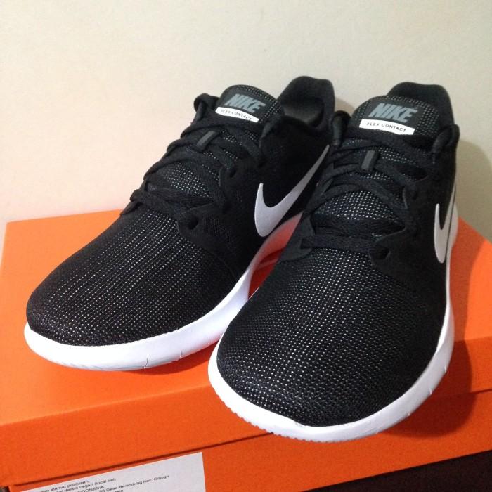 Jual Sepatu Running Lari Nike Flex Contact 2 Black White AA7398-001 ... babeb88893