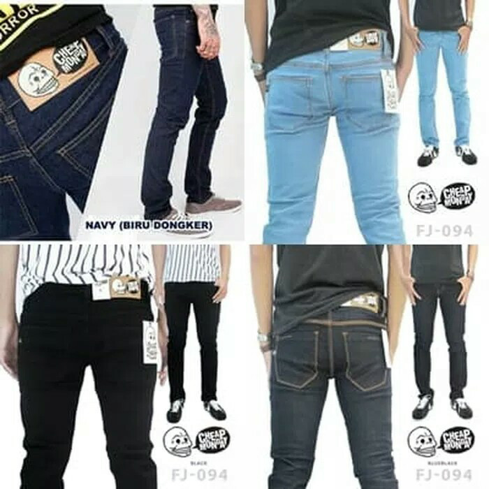 Foto Produk CELANA JEANS SLIM FIT CHEAP MONDAY - Hitam, 28 dari Lapak Jeans Bandung
