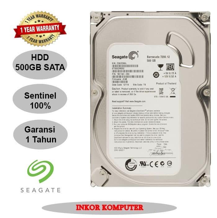 Foto Produk Harddisk Internal PC 3.5 500GB Sata Seagate Slim dari INKOR KOMPUTER